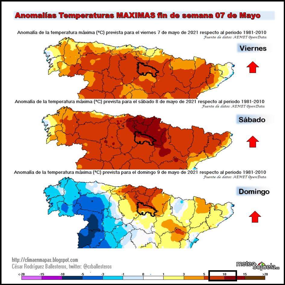 Anomalías Temperaturas Máximas Cesar Meteosojuela