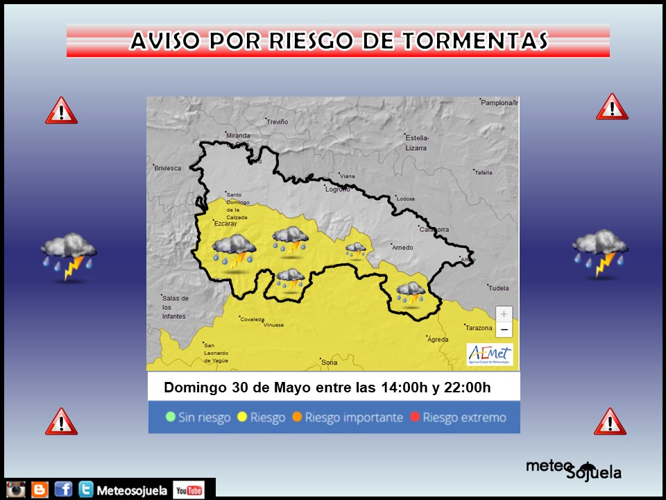 Aviso Amarillo por Tormentas en la Ibérica AEMET