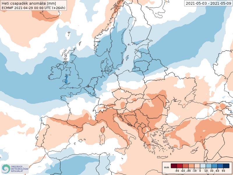 Modelos de Precipitación semanal Mayo ECMWF 1ª Semana .Meteosojuela La Rioja
