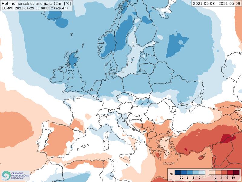 Modelos de Temperatura semanal Mayo ECMWF 1ª Semana .Meteosojuela La Rioja