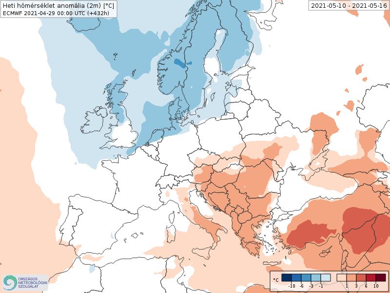 Modelos de Temperatura semanal Mayo ECMWF 2ª Semana .Meteosojuela La Rioja