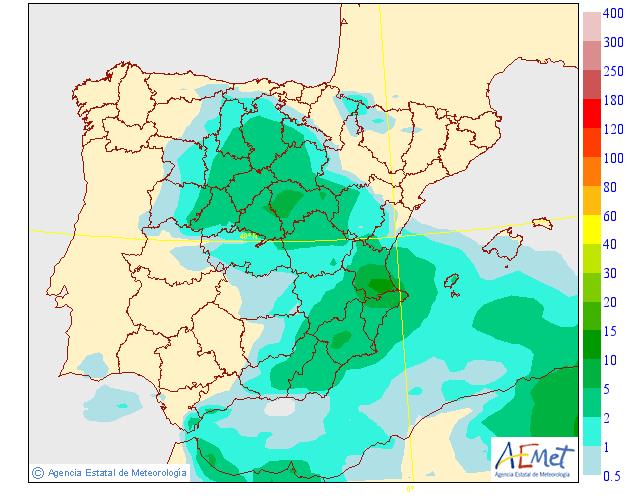 Precipitación Media según AEMET. 03 Meteosojuela La Rioja