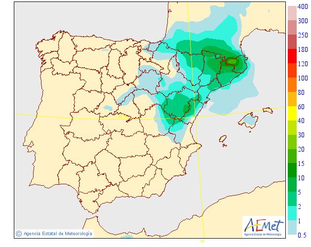 Probabilidad de precipitación según AEMET .30 Meteosojuela La Rioja