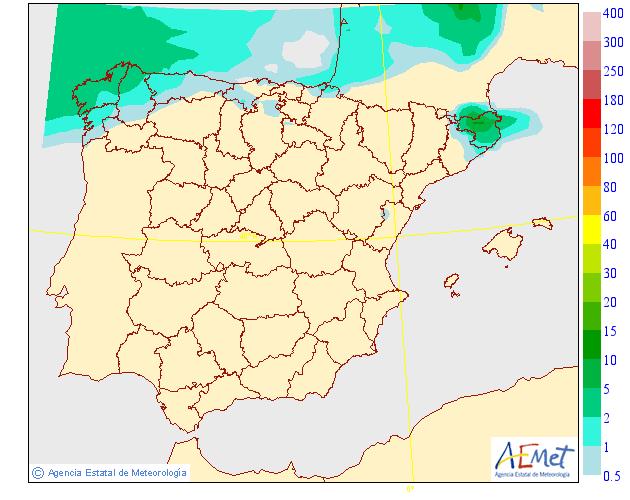 Probabilidad de precipitación según AEMET. 17 Meteosojuela La Rioja