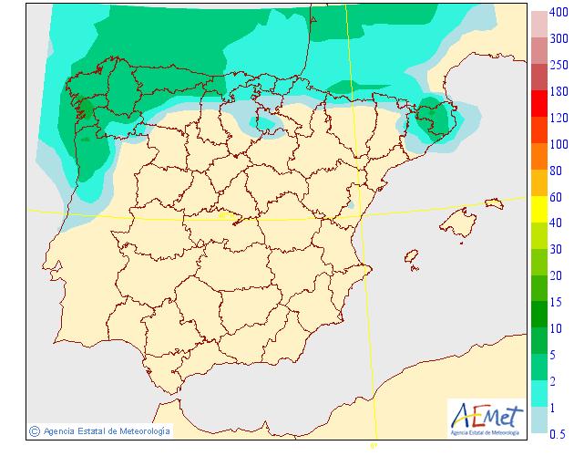 Probabilidad de precipitación según AEMET. 18 Meteosojuela La Rioja