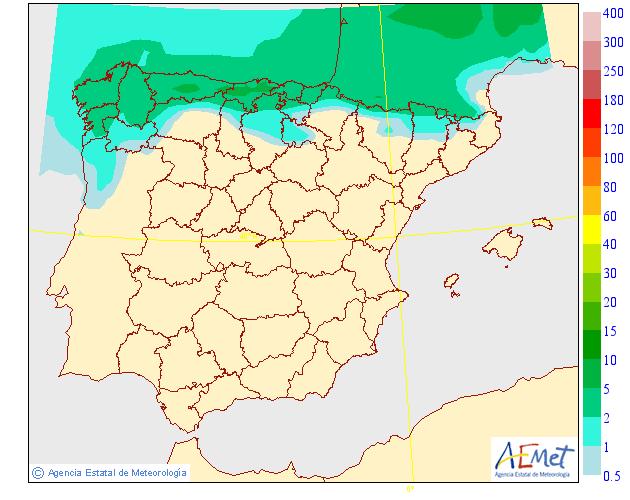 Probabilidad de precipitación según AEMET. 21 Meteosojuela La Rioja