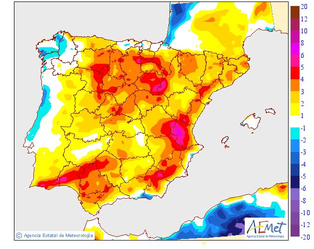 Variación de temperaturas máximas AEMET. 04Meteosojuela