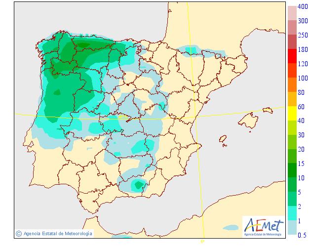 Precipitación Media según AEMET. 13 Meteosojuela La Rioja