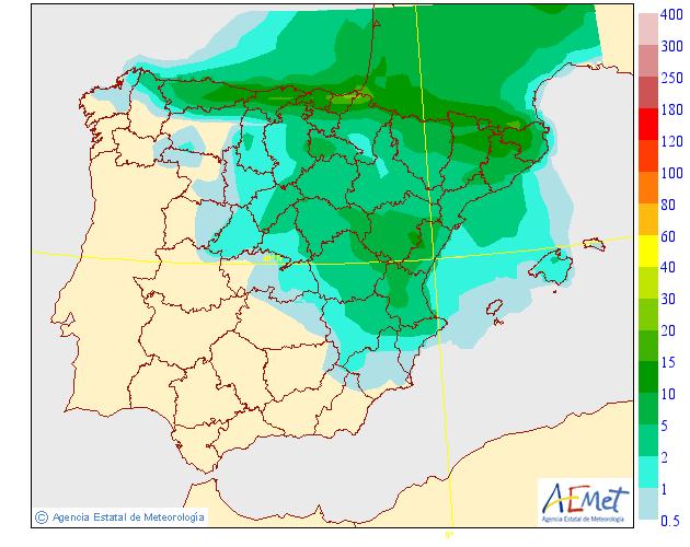 Precipitación Media según AEMET. 23 Meteosojuela La Rioja