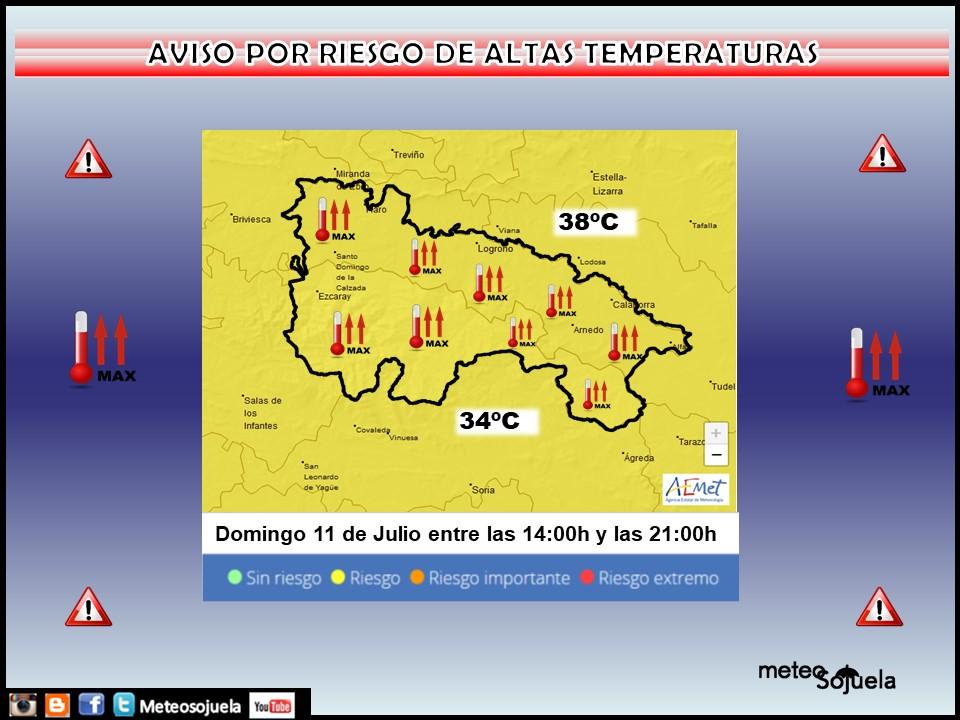 Aviso Amarillo por altas Temperaturas. Meteosojuela