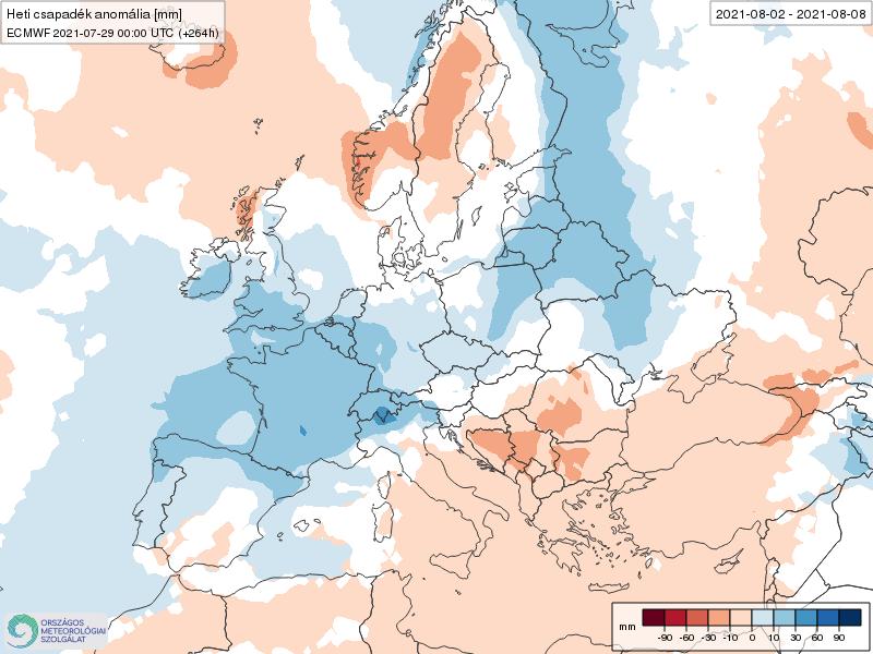 Modelos de Precipitación semanal Agosto ECMWF 1ª Semana .Meteosojuela La Rioja
