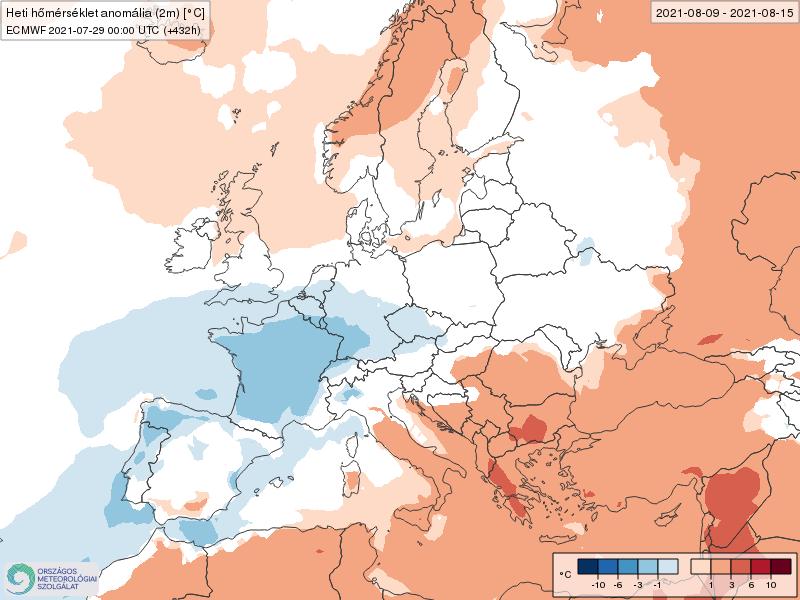 Modelos de Temperatura semanal Agosto ECMWF 2ª Semana .Meteosojuela La Rioja
