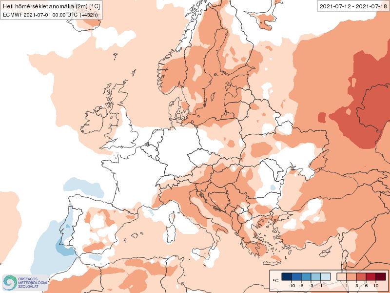 Modelos de Temperatura semanal Julio ECMWF 2ª Semana .Meteosojuela La Rioja