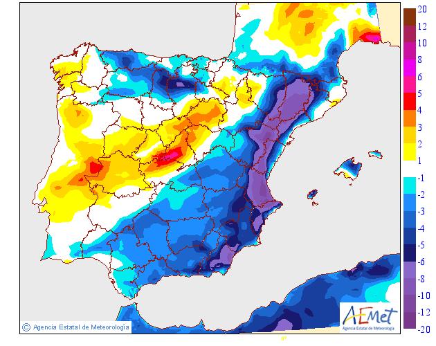 Variación de temperaturas máximas AEMET. 07.Meteosojuela