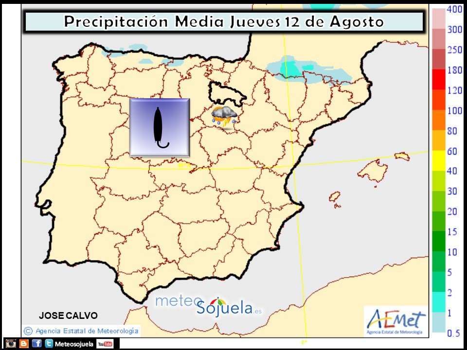 Precipitación Media según AEMET. Meteosojuela La Rioja - copia