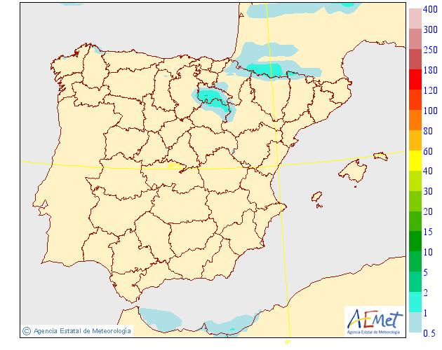 Precipitación Media según AEMET.10 Meteosojuela La Rioja