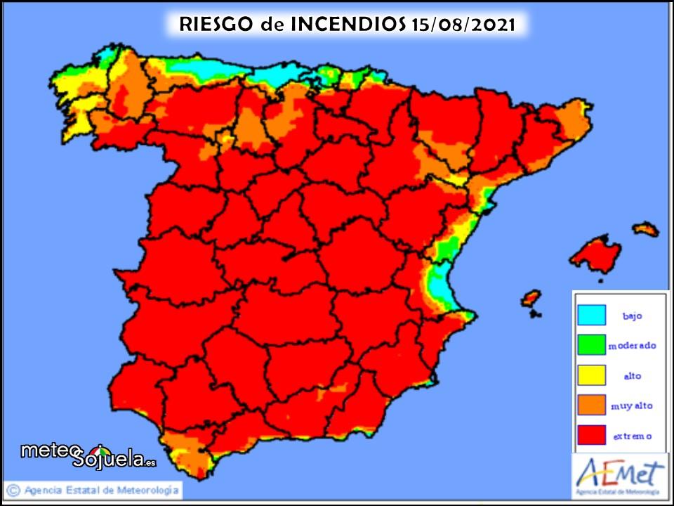 Riesgo de Incendios La Rioja. Meteosojuela.