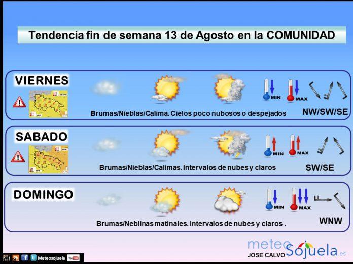 Tendencia del tiempo en La Rioja 13 08 Meteosojuela La Rioja. Jose Calvo