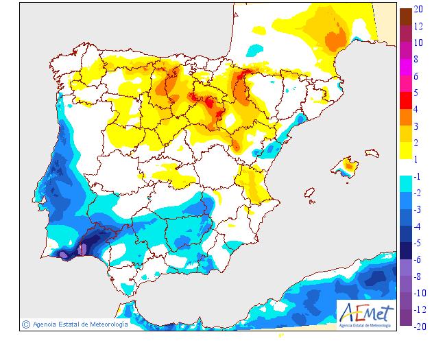 Variación de temperaturas máximas AEMET. 1808 Meteosojuela