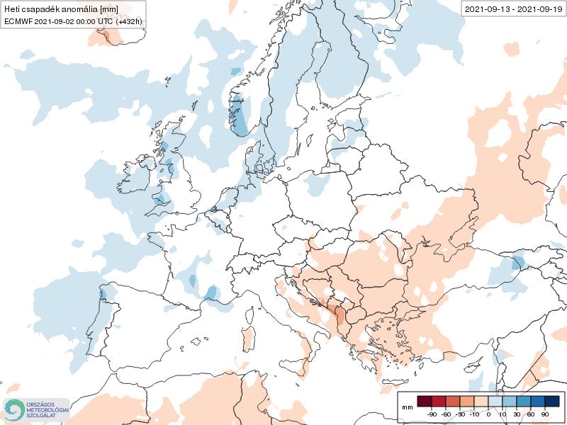 Modelos de Precipitación semanal Septiembre ECMWF 2ª Semana .Meteosojuela La Rioja