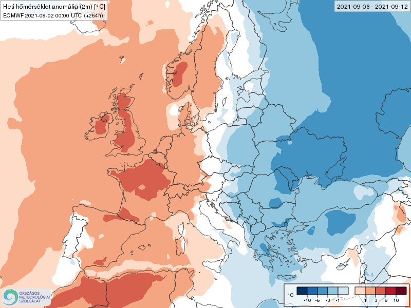 Modelos de Temperatura semanal Septiembre ECMWF 1ª Semana .Meteosojuela La Rioja