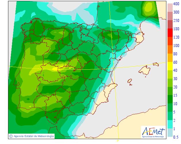 Precipitación Media según AEMET. 14 Meteosojuela La Rioja