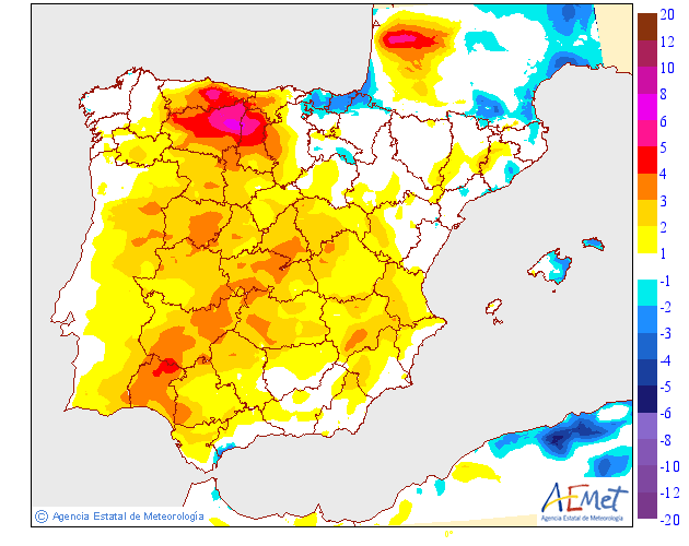 Variación de temperaturas máximas AEMET.03 Meteosojuela